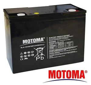 Akumulátor energie BezÚ Olovený AGM PbH2SO4 MOTOMA 12V/20Ah SLA-12V20TMF/20h
