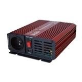 Menič napätia DC/AC 12V/230V-50Hz OFF-GRID CARSPA P400U 12V/400W+USB Čistý Sínus