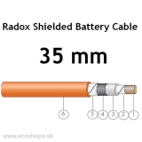 Akumulátor energie Spojovací kábel H+S RADOX Shielded Battery Cable 1x35 mm