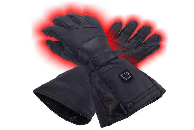 VOB Vyhrievané kožené rukavice CFiB3-8W  LiPoly-2.1Ah GLOVII GS5 Čierna 82017a742c