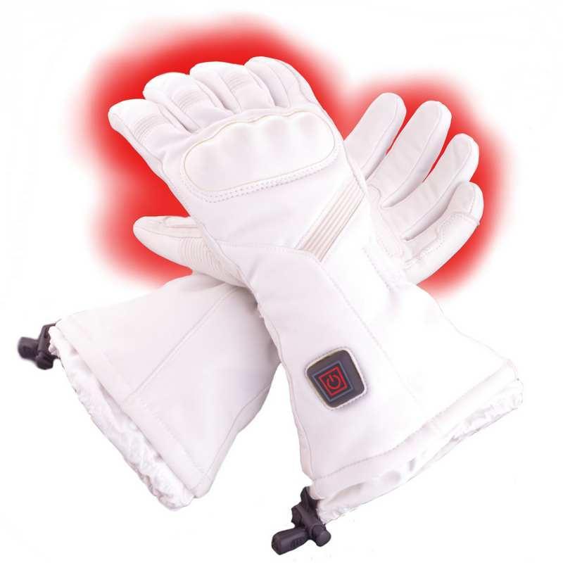 VOB Vyhrievané lyžiarske rukavice CFiB3-8W  LiPoly-2.1Ah GLOVII GS6 Biela c483e328c4
